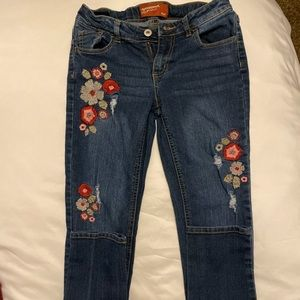 Girls embroidered AZ jeans